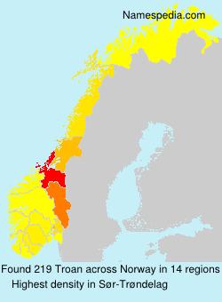 Surname Troan in Norway