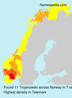 Surname Trojanowski in Norway