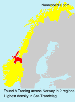 Surname Troning in Norway