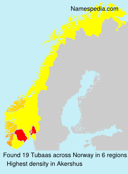 Surname Tubaas in Norway