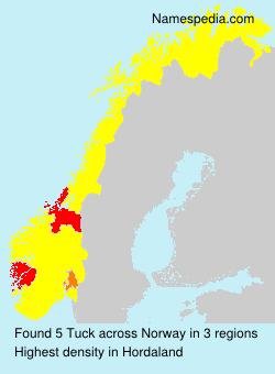 Surname Tuck in Norway