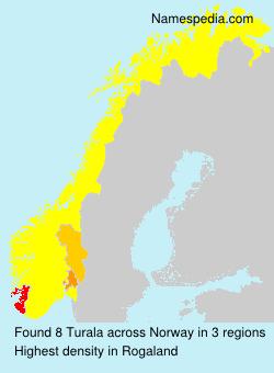 Surname Turala in Norway