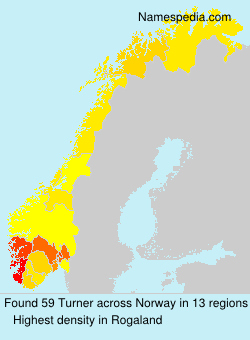 Surname Turner in Norway
