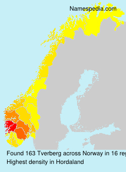 Familiennamen Tverberg - Norway