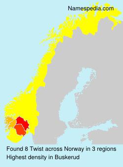 Surname Twist in Norway