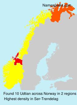 Familiennamen Udtian - Norway