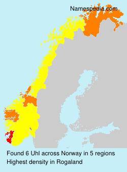 Surname Uhl in Norway