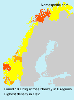 Surname Uhlig in Norway