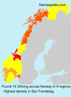 Surname Uhlving in Norway