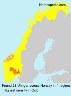 Surname Uhnger in Norway