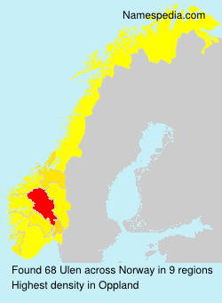 Surname Ulen in Norway