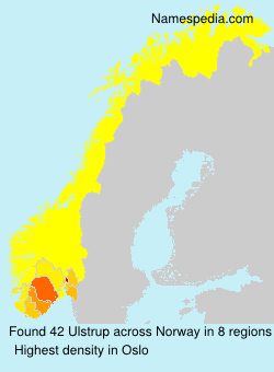 Surname Ulstrup in Norway