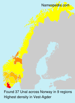 Surname Unal in Norway