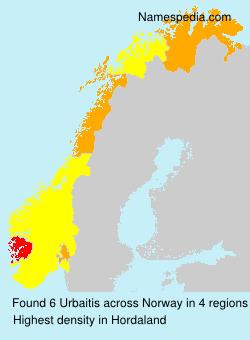 Familiennamen Urbaitis - Norway