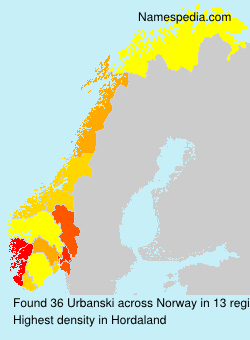 Surname Urbanski in Norway