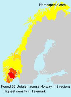 Surname Urdalen in Norway