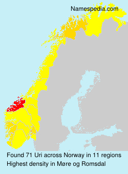 Surname Uri in Norway