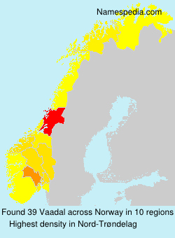 Familiennamen Vaadal - Norway