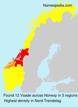 Surname Vaade in Norway