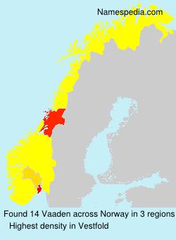 Familiennamen Vaaden - Norway