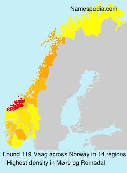 Familiennamen Vaag - Norway