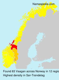 Surname Vaagan in Norway