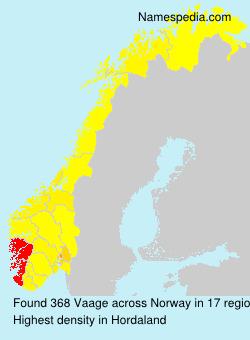 Familiennamen Vaage - Norway