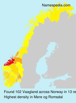 Familiennamen Vaagland - Norway