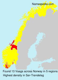 Surname Vaags in Norway