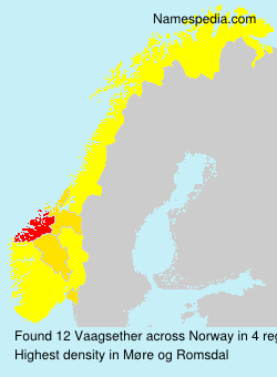 Surname Vaagsether in Norway