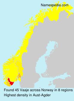 Surname Vaaje in Norway
