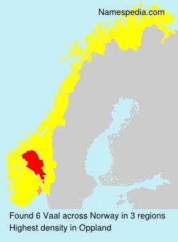 Familiennamen Vaal - Norway