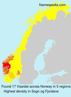 Surname Vaardal in Norway