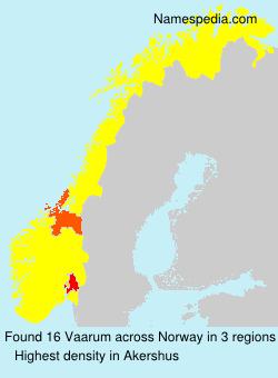 Surname Vaarum in Norway