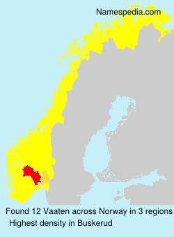Surname Vaaten in Norway