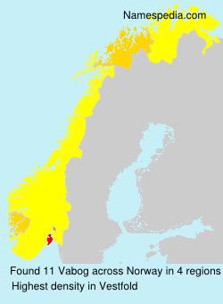 Familiennamen Vabog - Norway