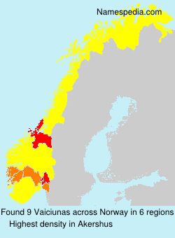 Surname Vaiciunas in Norway