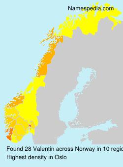 Surname Valentin in Norway