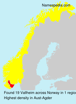 Surname Vallheim in Norway
