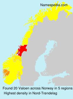 Familiennamen Valoen - Norway