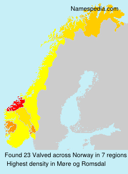 Familiennamen Valved - Norway