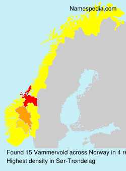 Surname Vammervold in Norway