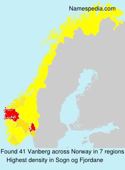 Surname Vanberg in Norway
