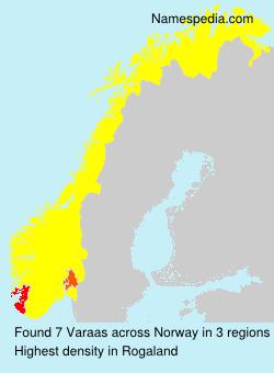 Familiennamen Varaas - Norway