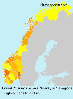 Surname Varga in Norway