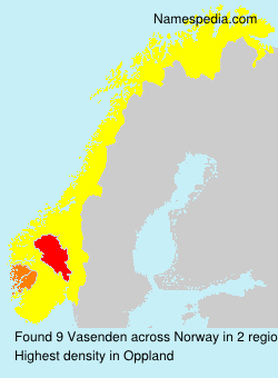 Surname Vasenden in Norway