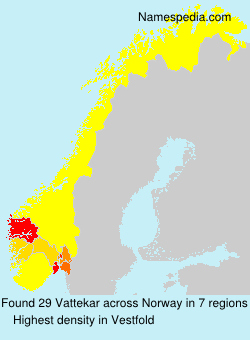 Surname Vattekar in Norway