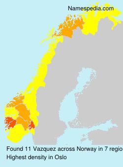 Familiennamen Vazquez - Norway