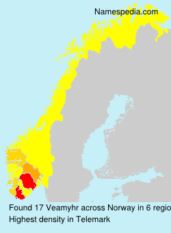 Surname Veamyhr in Norway