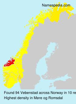 Surname Vebenstad in Norway